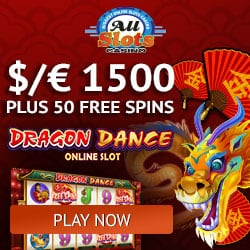 All Slots Casino banner 50 FS exclusive