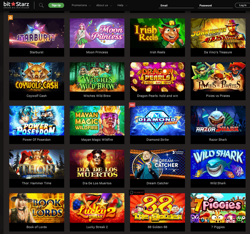 BitStarz Casino Games - Website