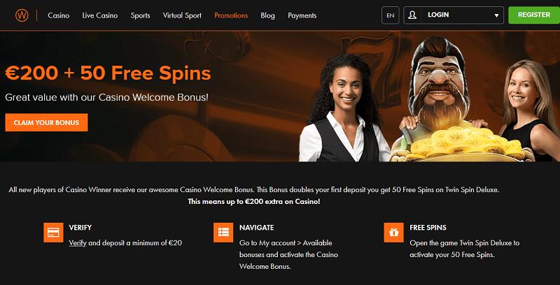 Casino Winner Welcome Bonus