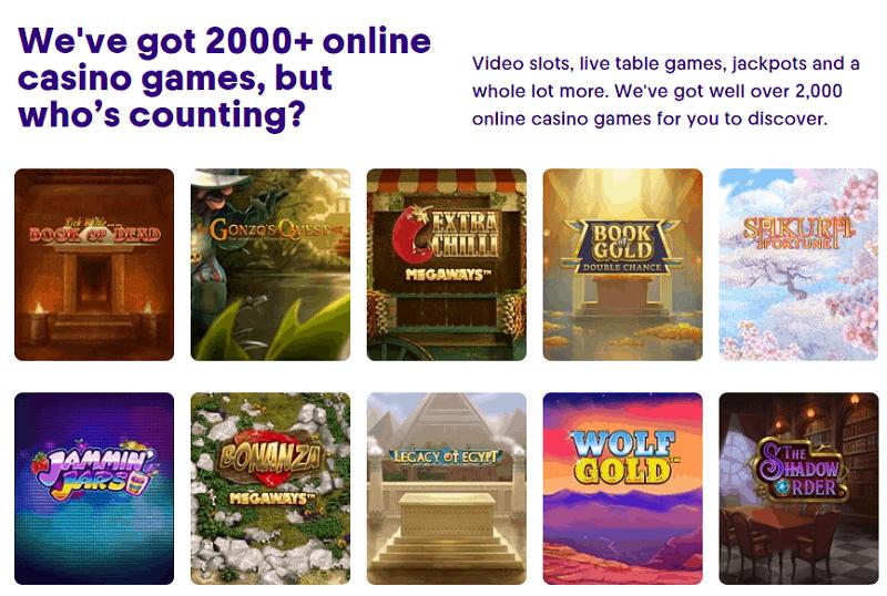 Casumo Casino Games