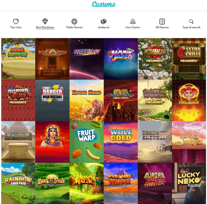 Casumo Casino website review
