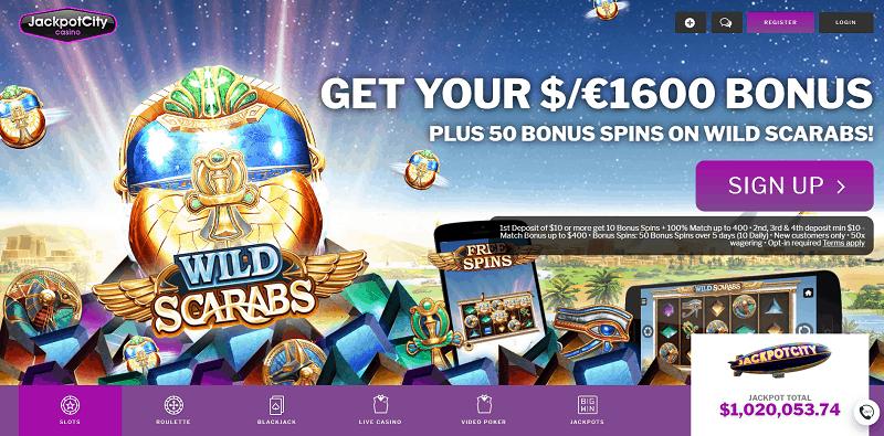 Get 50 Free Spins on Wild Scarabs