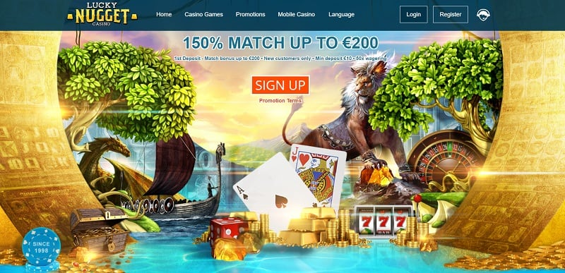 Lucky Nugget Casino 150% Welcome Bonus and 350 Free Spins