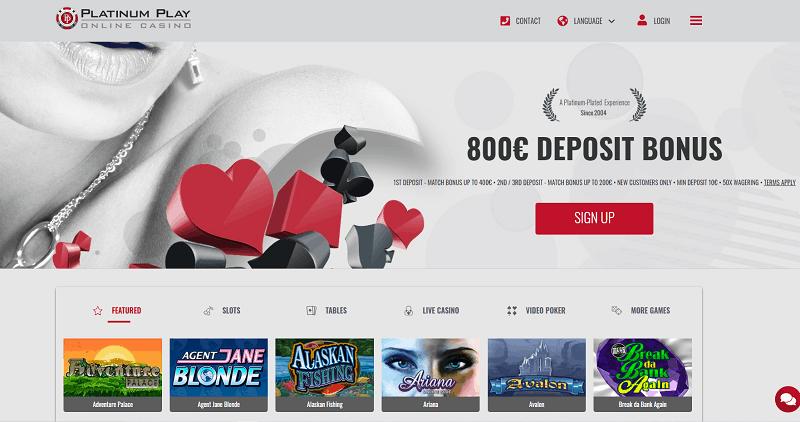 Platinum Play Casino Welcome Bonus