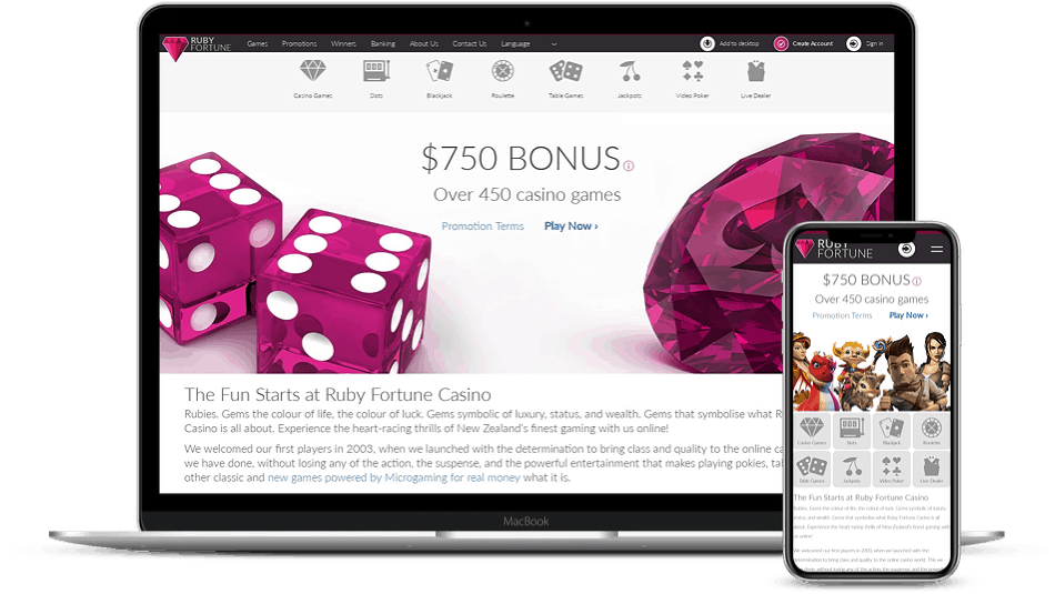 Ruby Fortune Mobile Casino Review