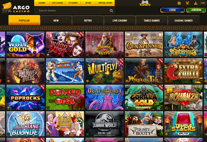 Argo Casino Review Website
