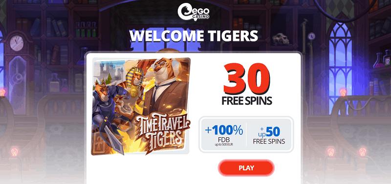 Ego Casino 30 free spins no deposit required