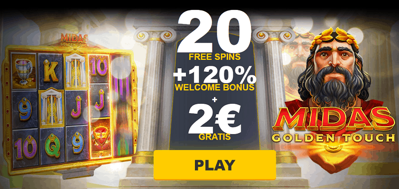 ZigZag777 20 free spins + 2 EUR gratis + 120% welcome bonus