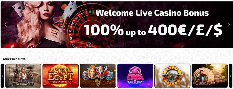Betchaser Live Dealer Welcome Bonus