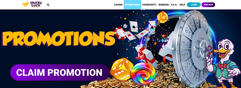 Ducky Luck Casino Promotions