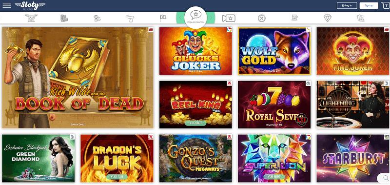 Sloty Casino Website Review