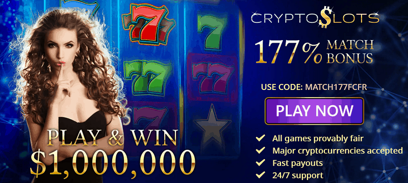 Crypto Slots Casino Bonus Code
