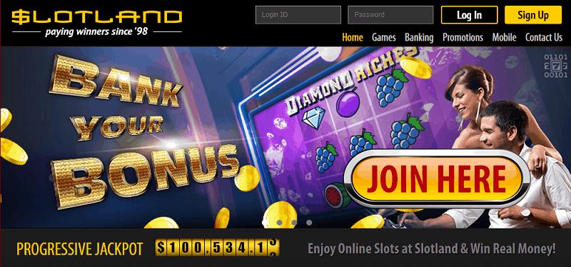 Slotland Casino Register & Login