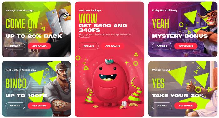 YOJU Casino Games and Software