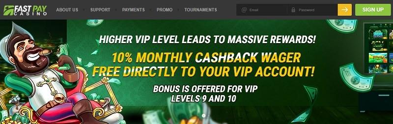 Fast Paying Casino Cashback