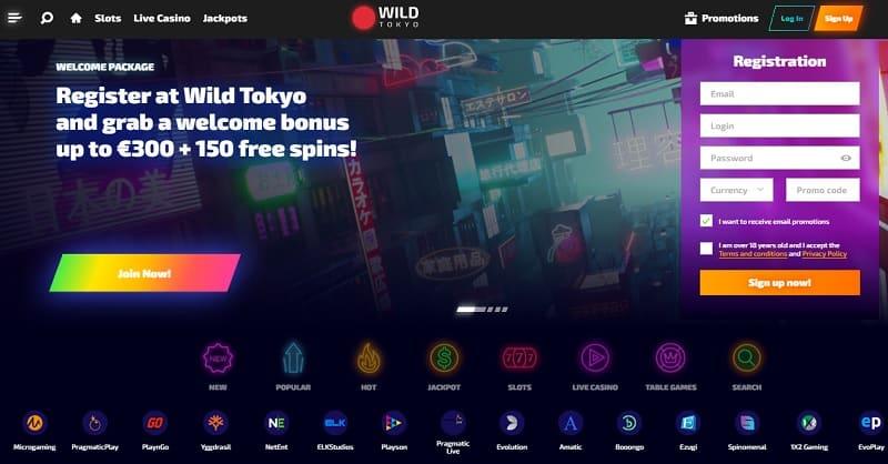 Wild Tokyo Casino Register and Login