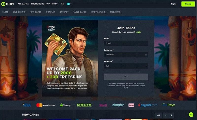 Gslot Casino Online Review