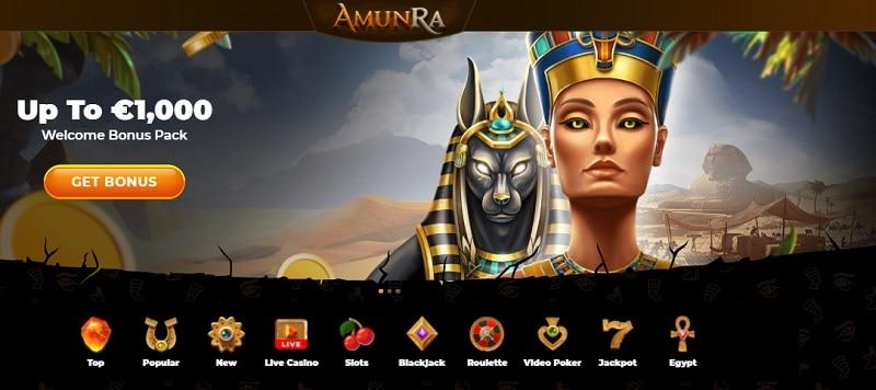 AmunRa Casino 1000 EUR welcome bonus