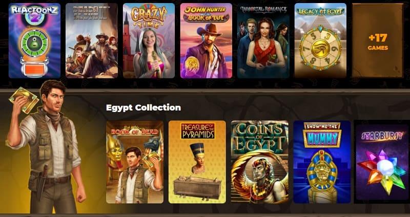 AmunRa Casino free games