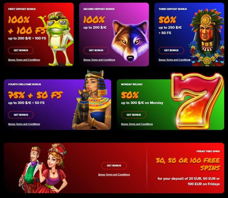 Arlekin Casino Current Bonuses