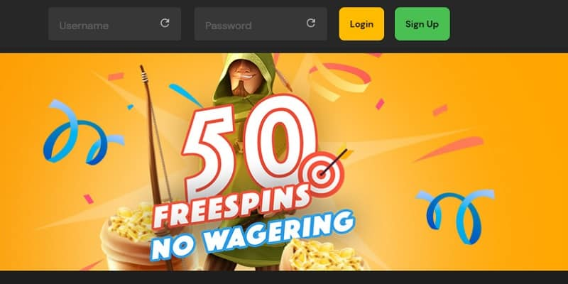 FortuneJack 50 free spins no wagering