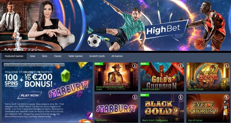 HighBet Casino Review Page