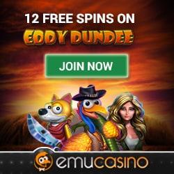 Emu Casino 12 FS banner 250x250