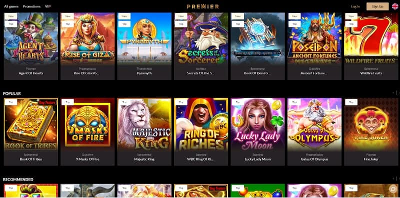 Premier Casino Games Review