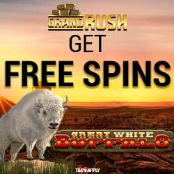 Grand Rush Casino free spins banner