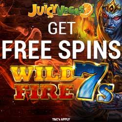 Juicy Vegas Casino free spins banner 4