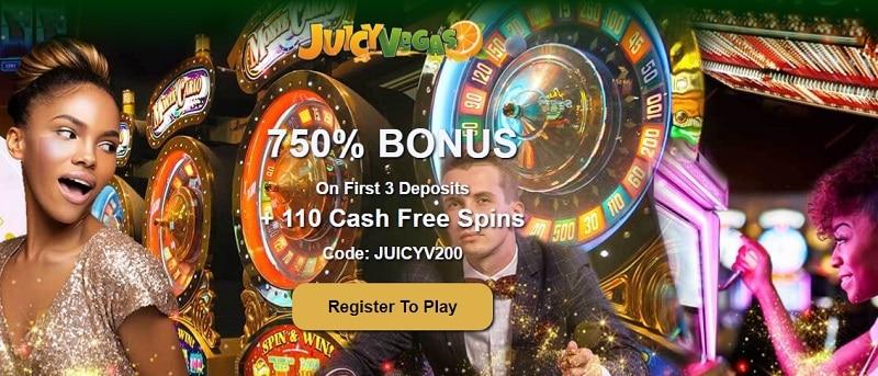 Juicy Vegas Casino Welcome Bonus