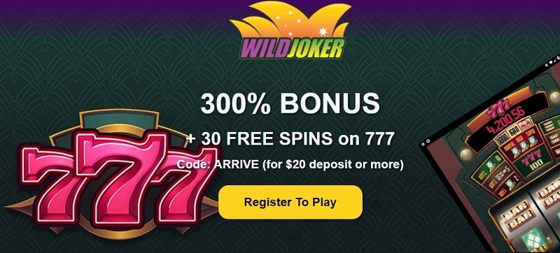 Wild Joker Casino Welcome Bonus